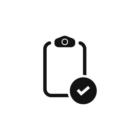 Checklist icon. document icon. flat isolated symbol