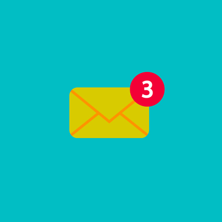 New incoming messages icon. Vector sign flat style