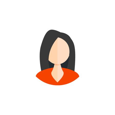 Business woman icon, avatar symbol. Female pictogram. vector illustration EPS10