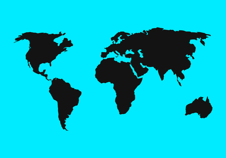 world map icon. flat simple color design. vector illustration EPS10