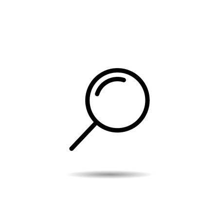 Magnifying glass or search icon, flat vector graphic isolated illustration