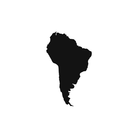 South America map. Flat simple design. vector