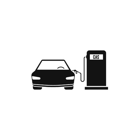 fuel station gas and car. vector concept of car filling Illustration
