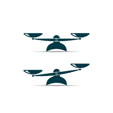 símbolo de equilibrio. icono de vector sobre fondo blanco Ilustración de vector