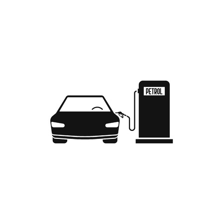 fuel station petrol and car. vector concept of car filling Imagens - 122702492