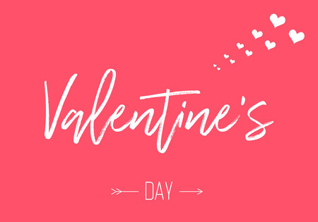 Happy Valentines day card. modern background vector illustration Imagens - 122702505