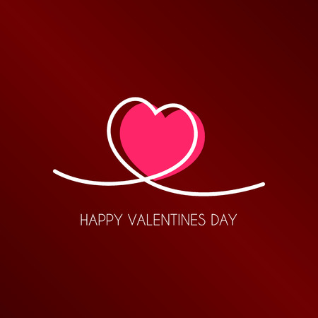 Happy Valentines Day Typography. Card Vector Background