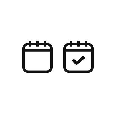 calendar icon. vector symbol on white background