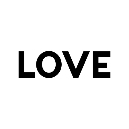 postcard text LOVE black symbols. vector image Imagens - 122702301