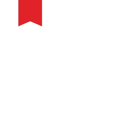 Bookmark icon on white background. vector illustration
