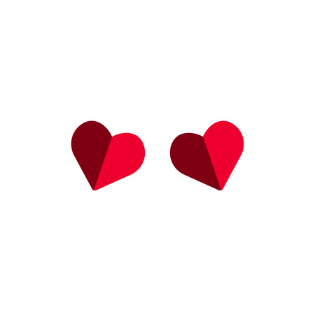 two heart icon. vector beautiful symbol