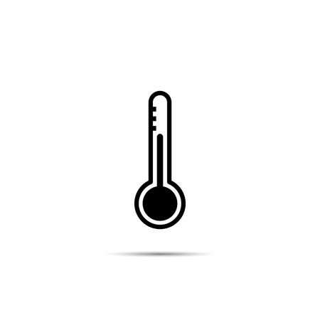 Thermometer. Single flat icon on white background. Vector illustration. Imagens - 122702304