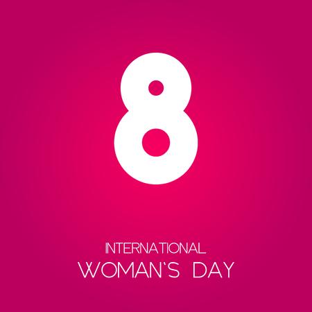 Cartel del día internacional de la mujer. Ilustración vectorial EPS10