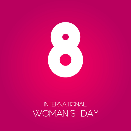 International women's day poster. EPS10 vector illustration