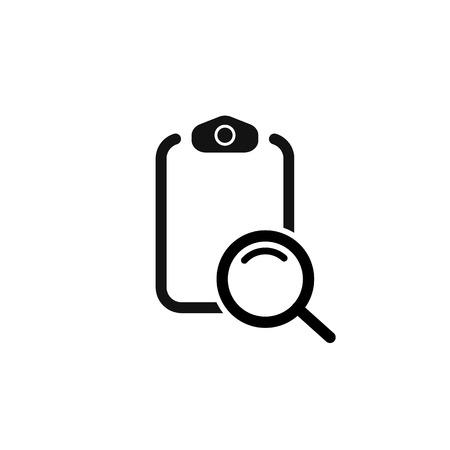 search checklist. search in document. vector symbol