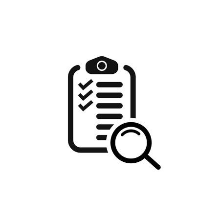 search checklist. search in document. vector symbol Imagens - 122702331