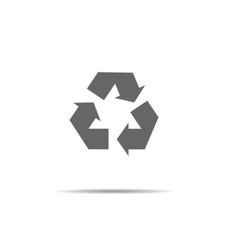 Recycle sign. vector symbol on white background. eco icon Imagens - 122702333