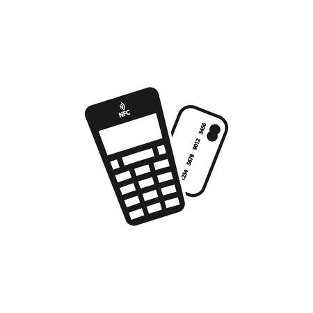 POS terminal pay icon. vector symbol Illustration