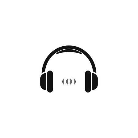 Headphone icon. Vector Symbol isolated on white background Imagens - 122702042