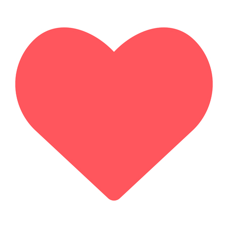 heart icon on white background. vector symbol