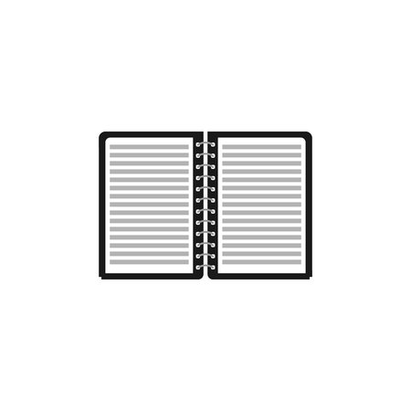 paper notebook icon vector silhouette, Document vector symbol Imagens - 122701983
