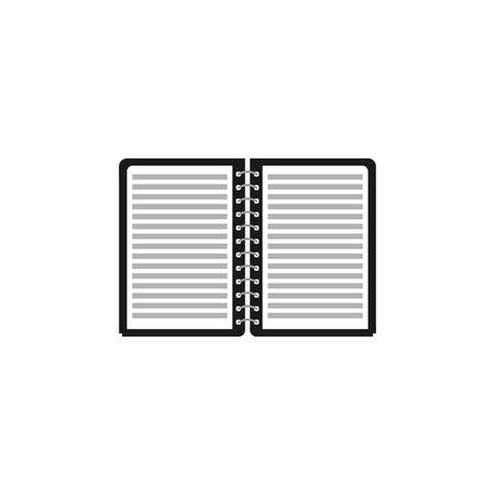 paper notebook icon vector silhouette, Document vector symbol Ilustração