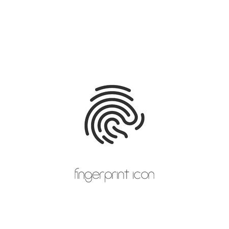 Fingerprint icon. vector symbol flat style on white background Imagens - 122701985