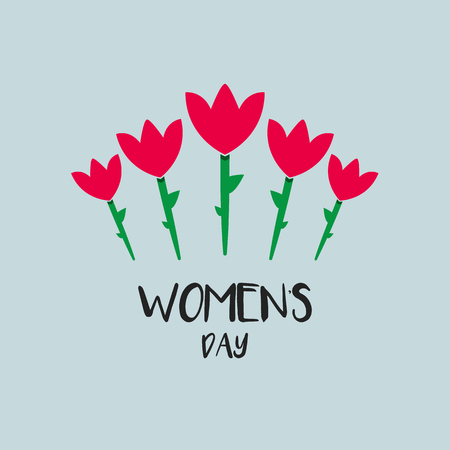 Happy Women Day. web banner vector illustration Imagens - 124779874