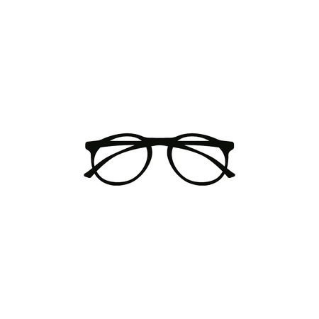 Realistic hipster, glasses icon vector symbol 일러스트