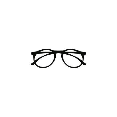 Realistic hipster, glasses icon vector symbol Ilustração