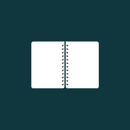 paper notebook icon vector silhouette, Document vector symbol Imagens - 122701999
