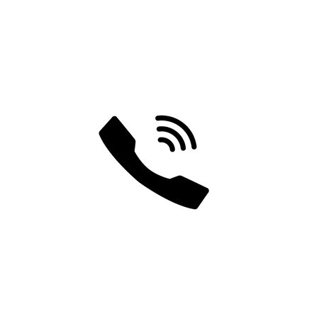 Cell phone on white background. vector Symbol