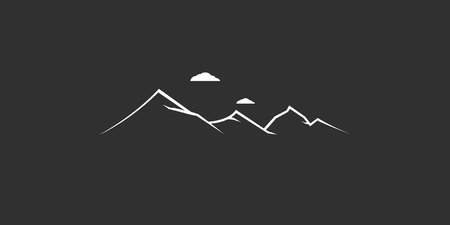 mountains logo. abstract design nature sign background