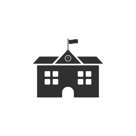 school, seminary, academy building icon. vector illustration on white background