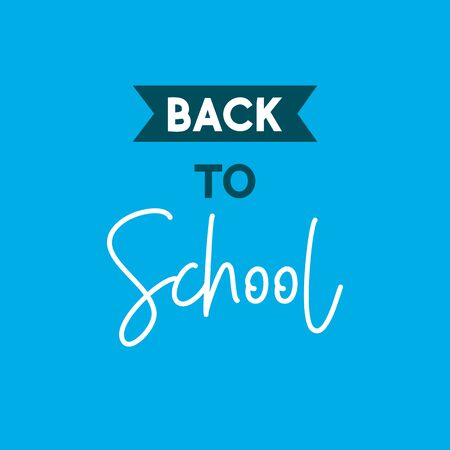 back to school. vector illustration on blue background