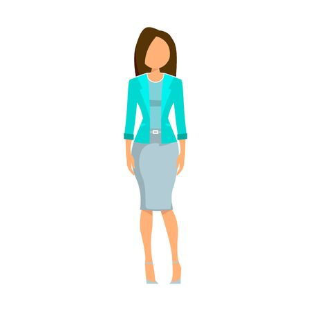 illustration of a business woman. business girl in light clothing. vector graphics Ilustração