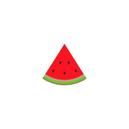 Watermelon realistic icon. vector symbol on white