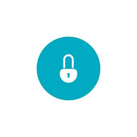 lock icon. security concept. vector flat symbol  イラスト・ベクター素材