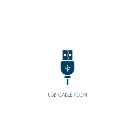 usb cable icon. vector symbol isolated on white background  イラスト・ベクター素材