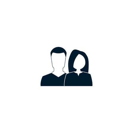 man and woman icon. vector symbol on white background