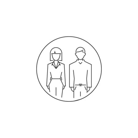 man and woman outline icon. vector line style modern. vector symbol