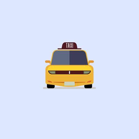 Car taxi icon modern flat design on whitw background EPS10