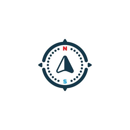 navigation icon. compass icon flat modern color design on white background EPS10