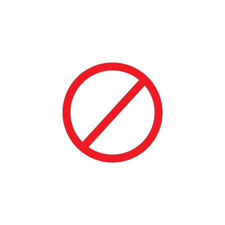 forbidden sign. vector symbol flat style on white background Banco de Imagens - 142894853