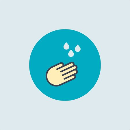 hand washing icon. vector symbol color of cleanliness and hygiene. we will stop the spread of the coronavirus together