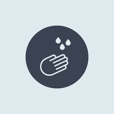 hand washing icon. vector symbol of cleanliness and hygiene. we will stop the spread of the coronavirus together Illustration