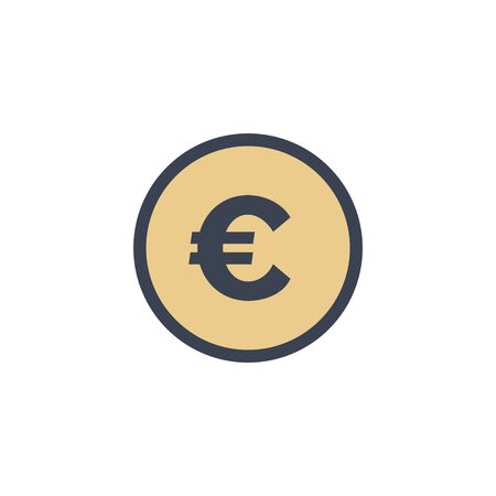 euro coin icon. vector flat style symbol EPS10