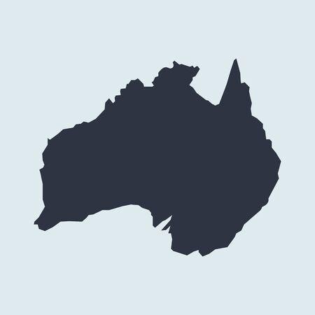 Australia map logo icon. vector simple symbol in flat style EPS10 Illustration