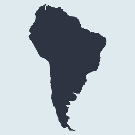 South america map logo icon. vector simple symbol in flat style EPS10