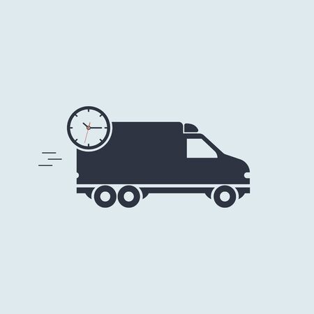 quick delivery minivan icon. vector simple symbol in flat style EPS10 Illustration